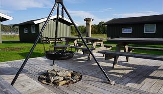 campfire at Notodden camping