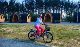 Pods at Bø Camping and cottage village