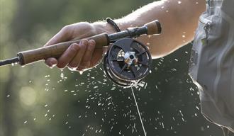 Bilde av fiskesnøre i fart