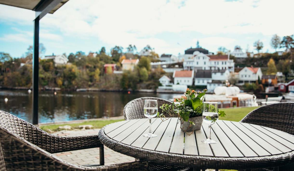 view from the terrace of the 2-rooms apartment at Kragerø Sportell and Appartements
