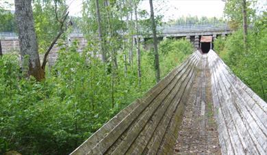 Timber slide in Siljan