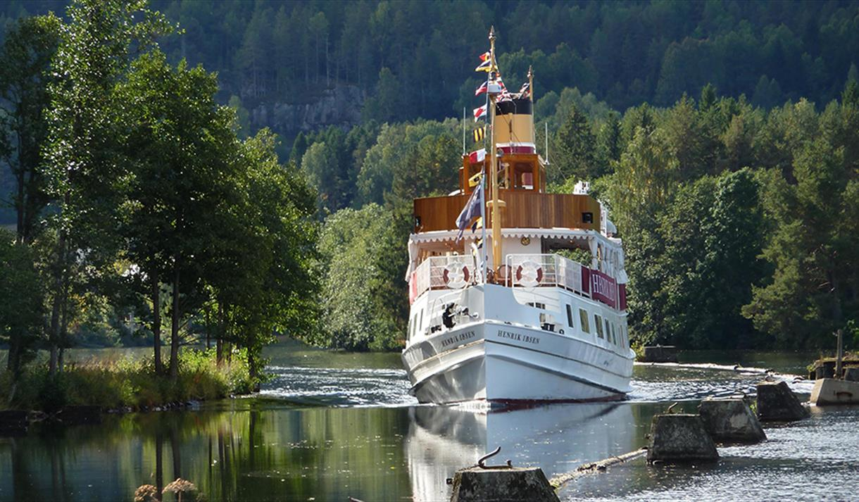 MS Henrik Ibsen on the Telemark Canal