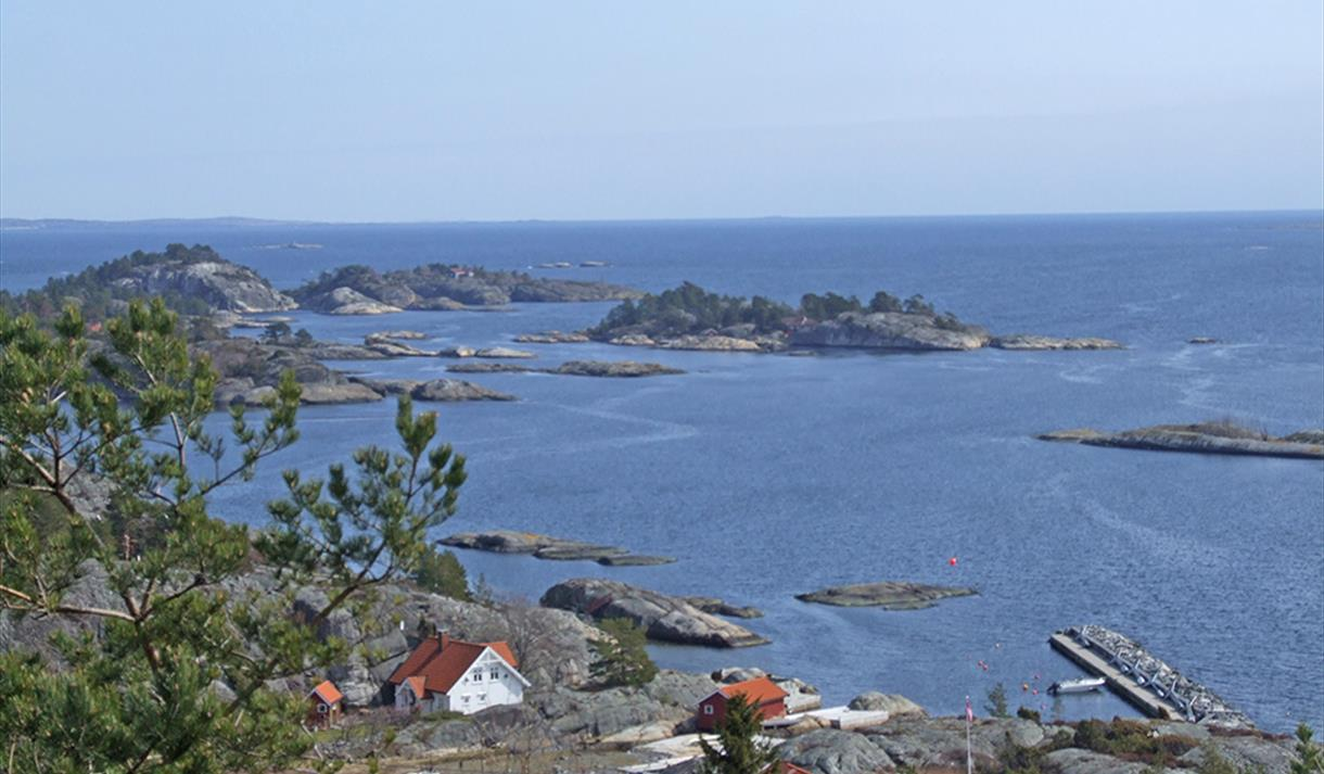views of the sea from Trolldalen