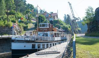 Løveid Lock guest harbor,  Skotfoss