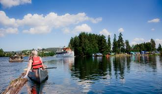 Canoeing on the Telemark Canal at Telemark Canal Camping