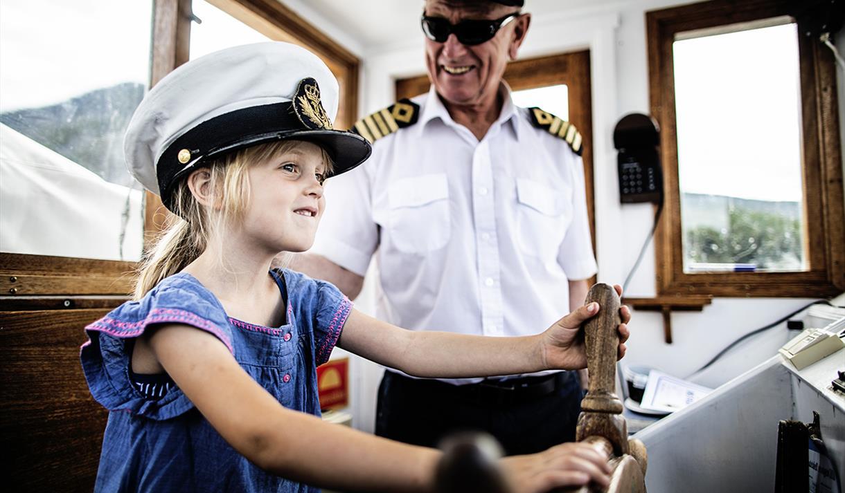 the veteran boat MS Fram on Nisser