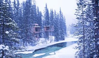 Å Camp om vinteren
