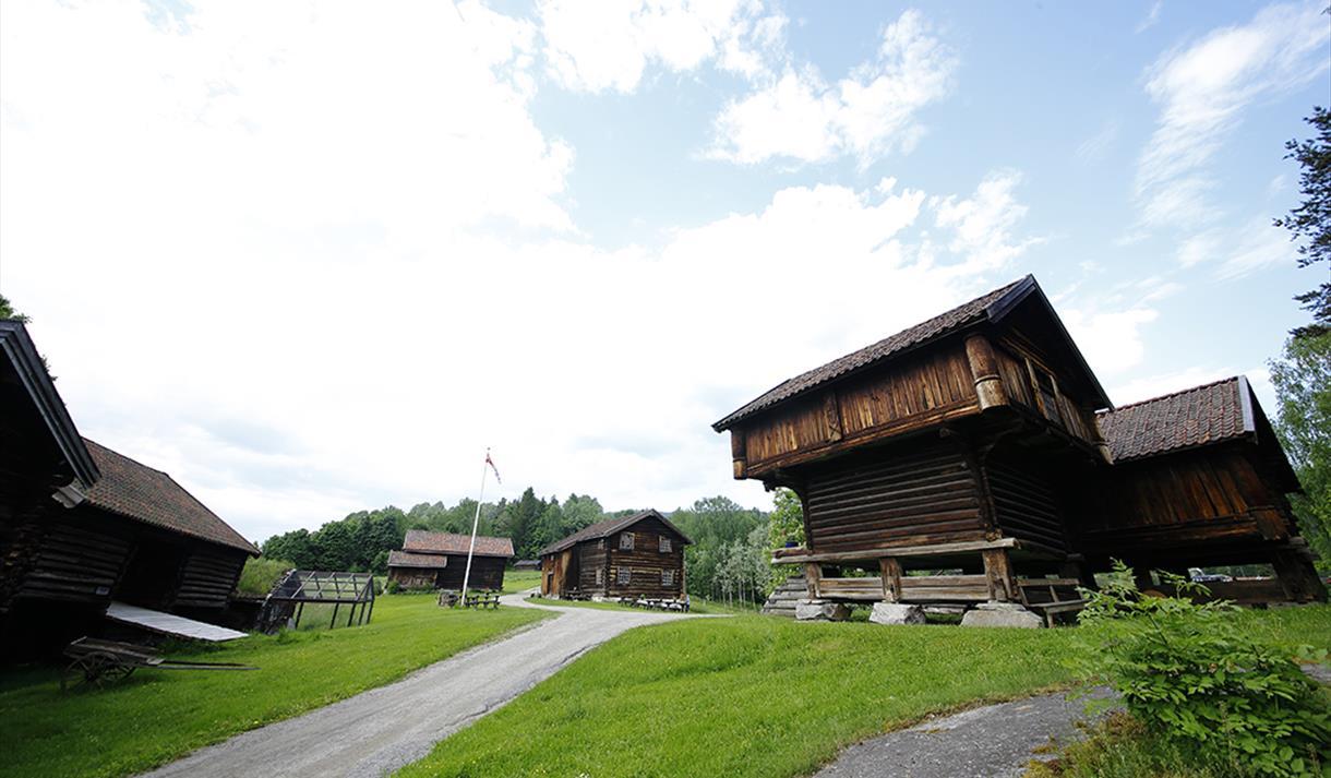 the houses at Heddal bygdetun in Notodden
