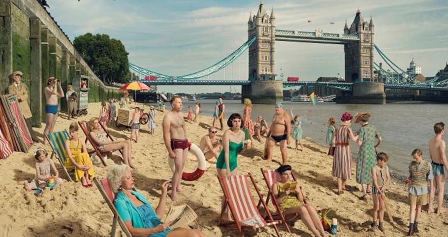 Bathing by Tower Bridge, River Thames 2018  Copyright Julia Fullerton-Batten|