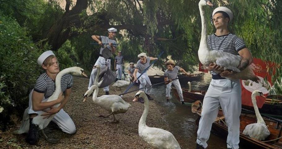 Royal Swan Upping recreated by Julia Fullerton-Batten
