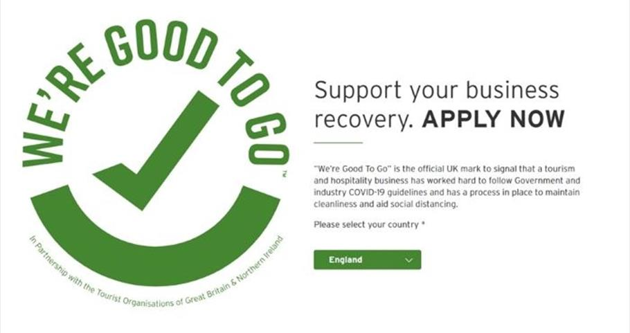 VisitBritain/VisitEngland WE'RE GOOD TO GO logo