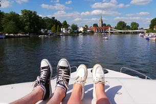 Le Boat on the River Thames -