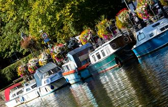 Boats on the river Thames  at Abingdon
