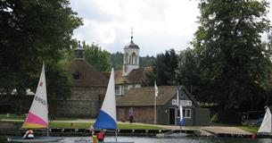Learning to sail on the River Thames at Bisham Abbey