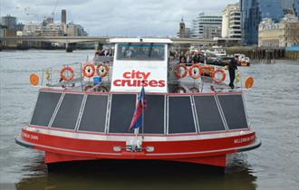 City Cruises boat on the Thames