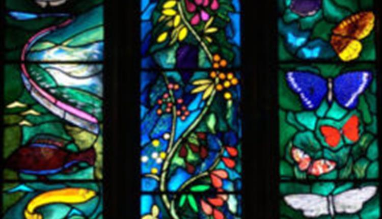 John Piper stained glass design for All Saints Church, Farnborough, West Berkshire