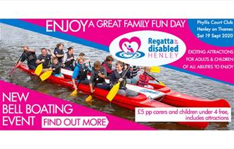 Advert for the Regatta for the Disabled - a great family day out.