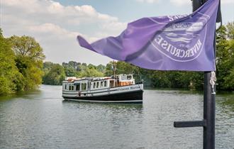 View of Princess Marina cruising on the River Thames