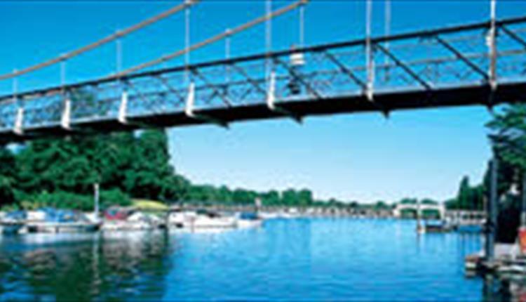 Suspension bridge over Teddington Lock, image courtesy VisitRichmond