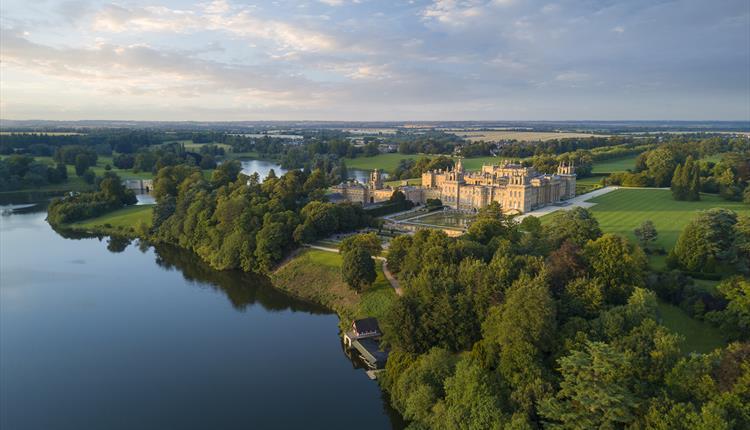 Blenheim Palace aerial photo