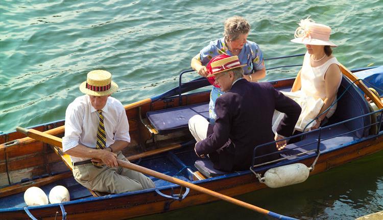 Private boat at Henley Royal Regatta