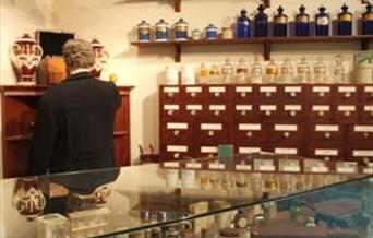 The reconstructed apothecary's shop at the George Marshall Medical Museum