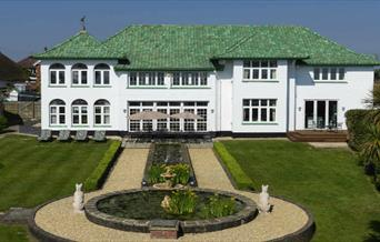 isle of Wight, Accommodation, Luxury Self Catering, The Marine Villa, View of House from Garden