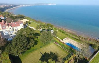 Aerial view of Haven Hall Hotel, Shanklin, Isle of Wight