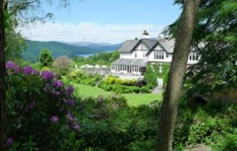 Linthwaite House Hotel, overlooking Lake Windermere