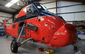 Weston-super-Mare helicopter musuem chopper cockpit