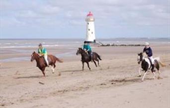 Horse riding on Talacre Beach