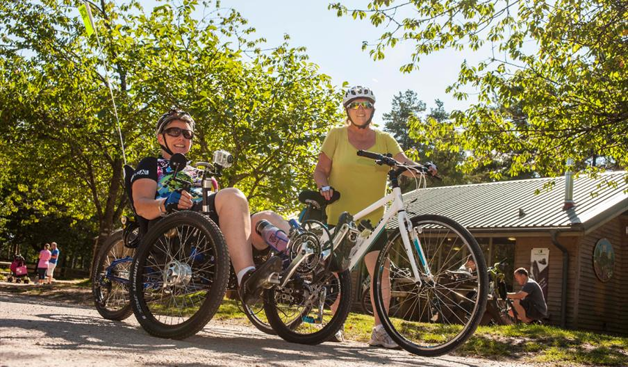 Cycling at Haldon Forest