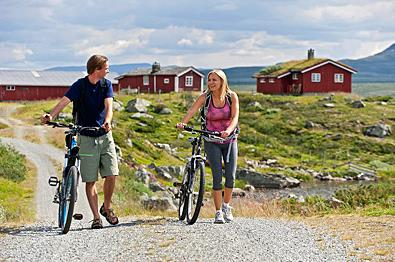 Cycling along Mjølkevegen.