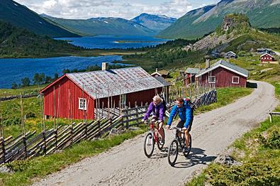 Cycling at Strø.