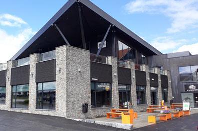 Ein modernes Gebäude beherbergt die Touristinformation in Beitostølen