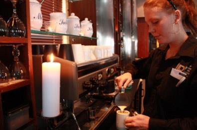 Cafeen på Beitostølen.