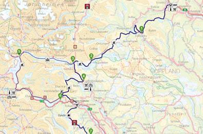 Kart over Mjølkevegen