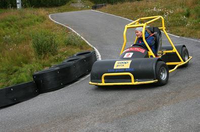 Downhill carting at Beitostølen Sommerpark.