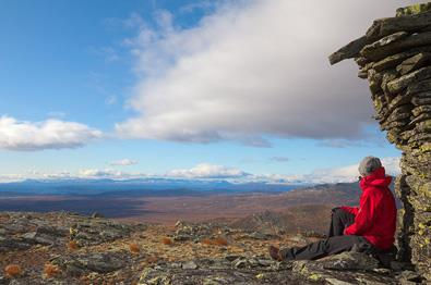 Auf dem Gipfel des Søre Langsua.