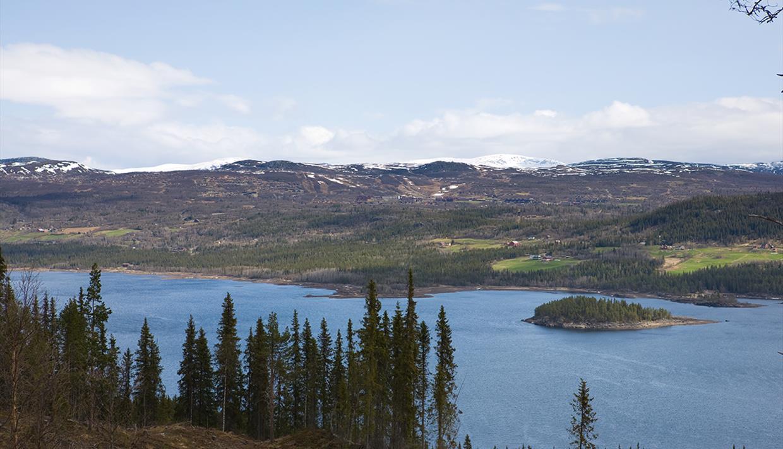 Aussicht über den See Øyangen.