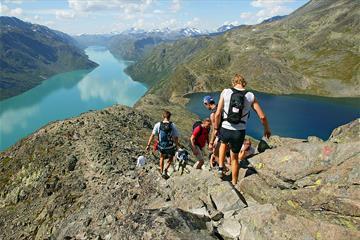 On the Besseggen Ridge in Jotunheimen