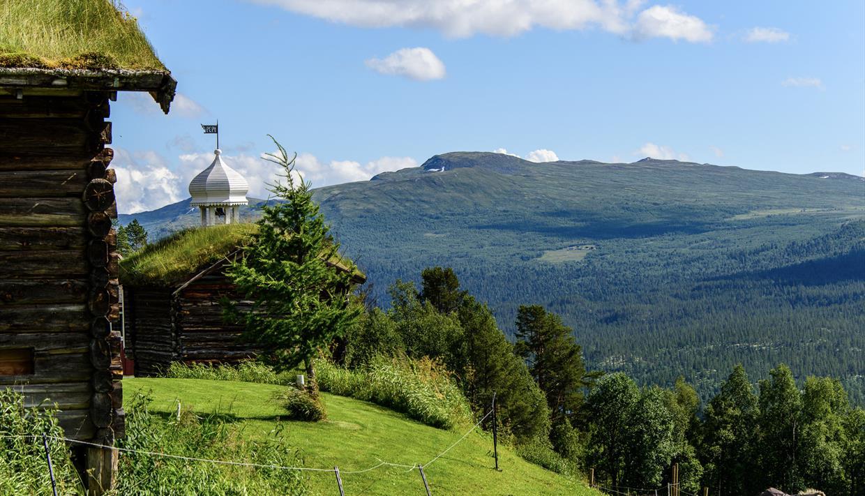 Utsikt fra Ruten Fjellstue