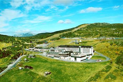 Storefjell Resort Hotel på Golsfjellet, midt mellom Hallingdal og Valdres.