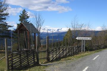 Einangsteinen, Gardbergfeltet, Valdres, Slidre, Vestre Slidre, Oppland, FjellNorge