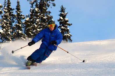 Alpint, alpinbakke, skisenter i Norge, Oppland, Valdres, Nord- Aurdal, Aurdal, Danebu, varmestue, skiutleie, barnebakke.