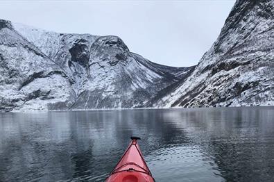 Kayaking during winter