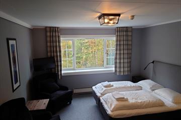 Hotel room at Valdres Tisleia Hotel.