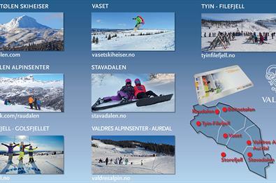 Valdreskortet alpine skiing