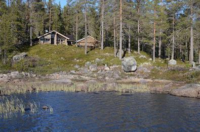 Fønhuskoia sett fra Strøen.