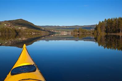 Kayaking Lake Heggefjorden.
